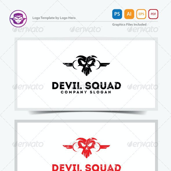 Devil Squad Logo Template