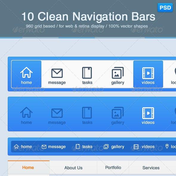 10 Clean Navigation Bars