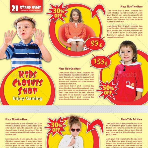 Kids Clothes Shop Flyer 01