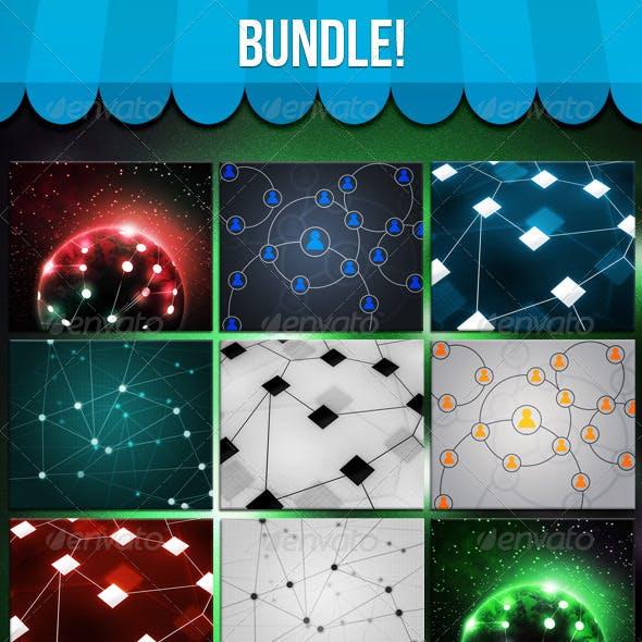 Network Backgrounds Bundle