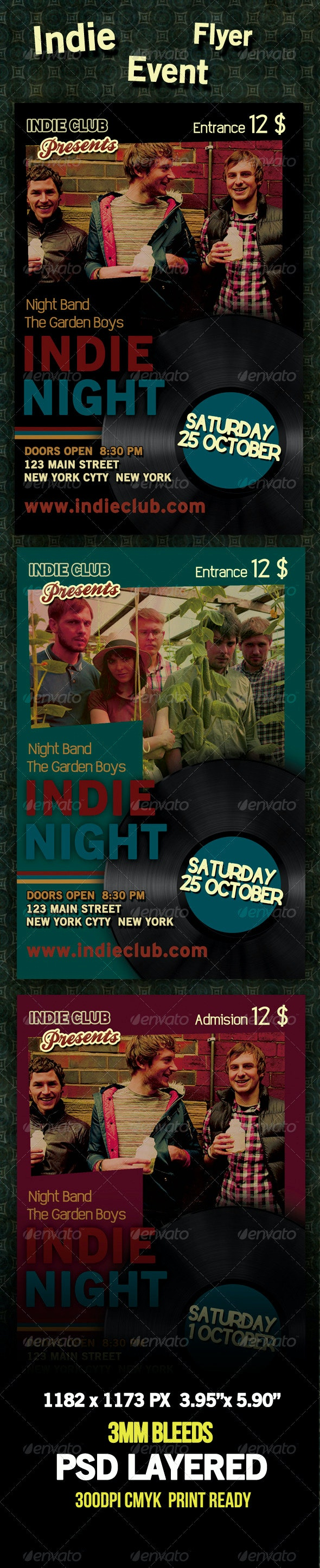 Indie Event Flyer - Clubs & Parties Events