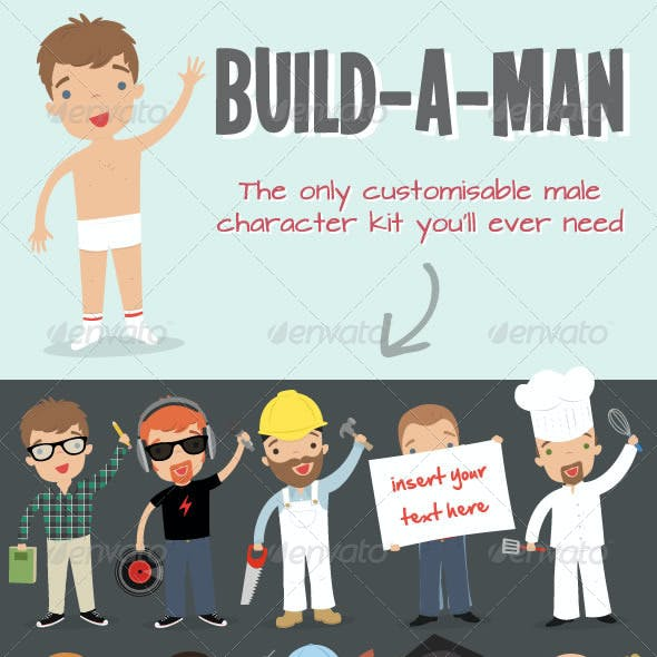 Build a Man Kit - Customisable Business Mascot