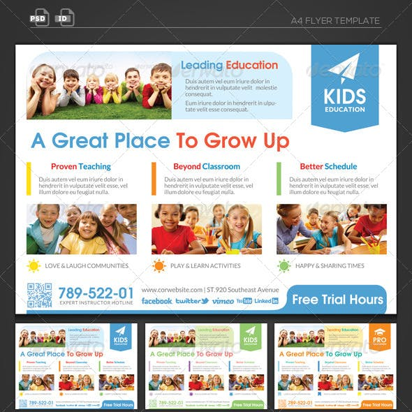 Happy Grow Up - Education Flyer Template