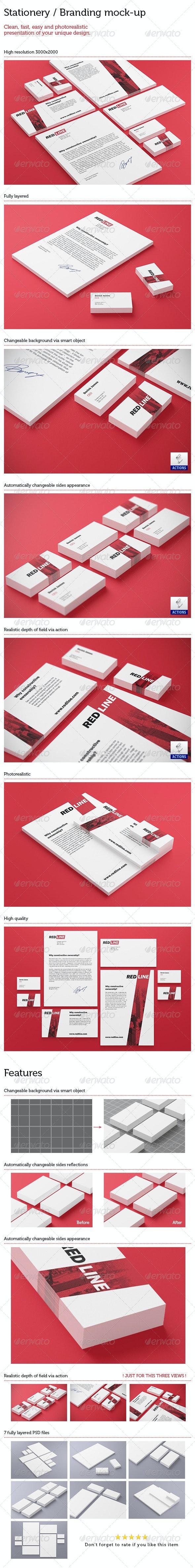 Stationery / Branding Mock Up - Print Product Mock-Ups