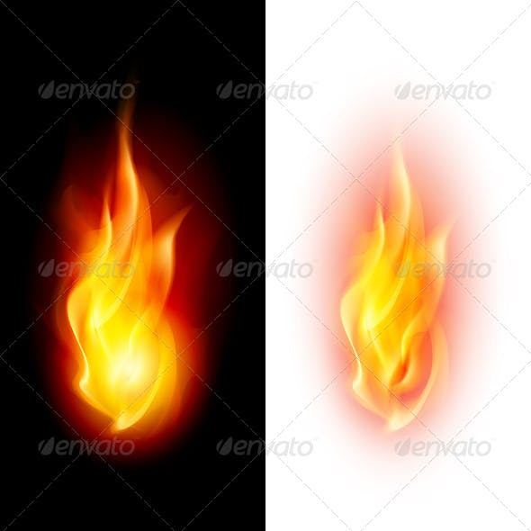 Two Fire Flames