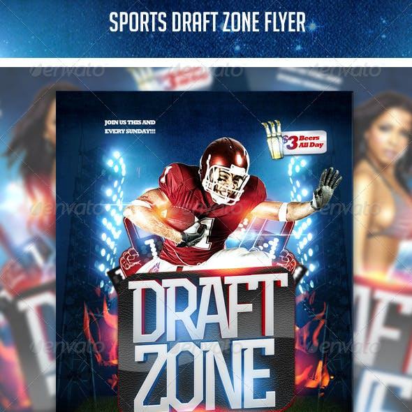 Sports Draft Zone Flyer