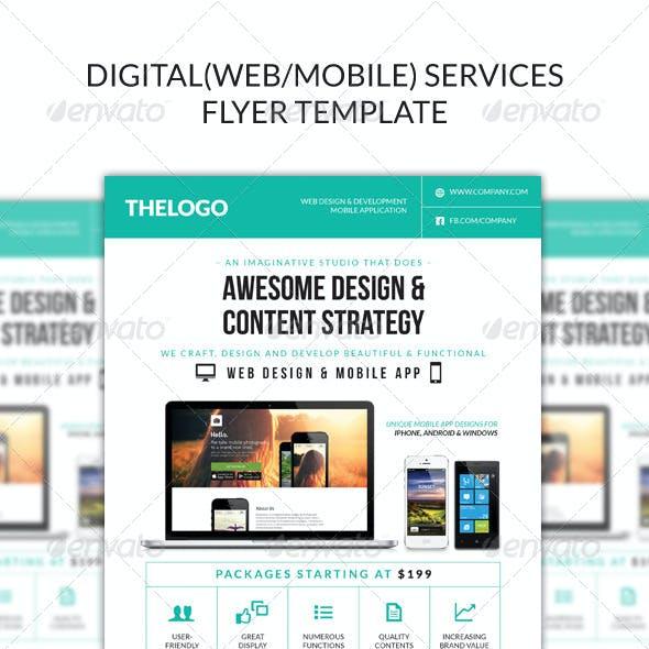 Digital (Web/Mobile) Design Services Flyer