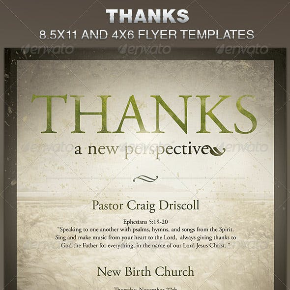 Thanks-A New Perspective Church Flyer Template