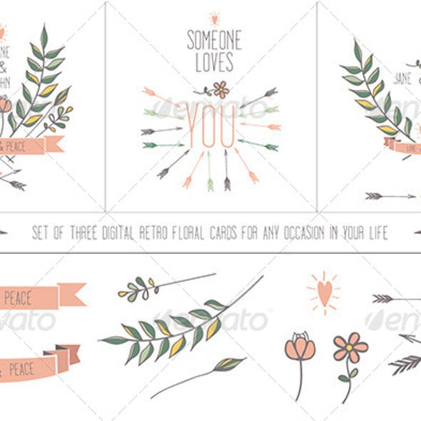 Retro Floral Cards for Any Occasion