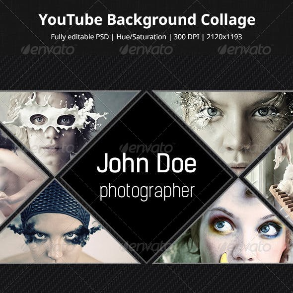 YouTube Background Collage