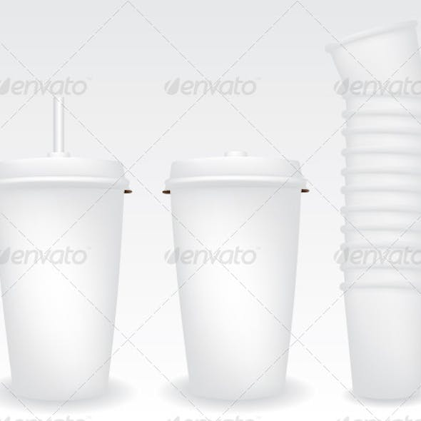 Paper Cups Illustration