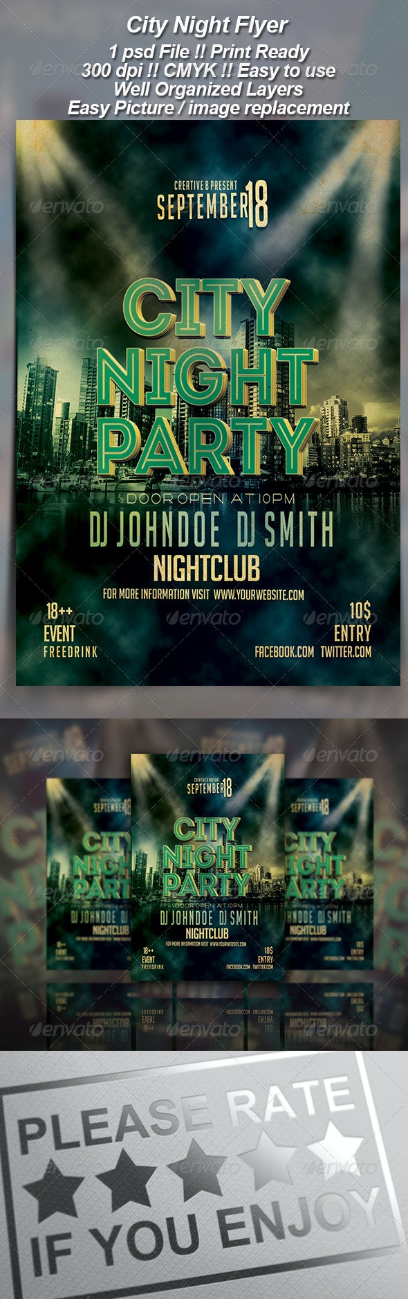 City Night Party--2 - Clubs & Parties Events