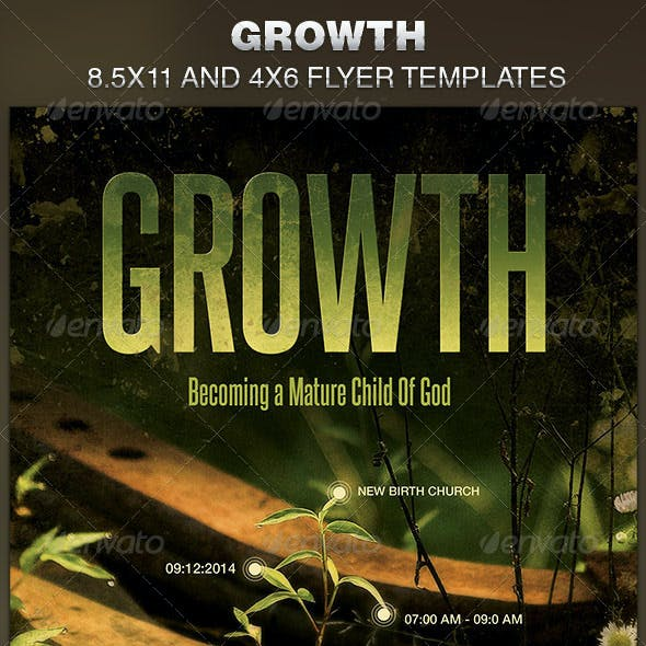Growth Church Flyer Template