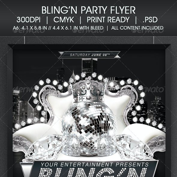 Bling Party Flyer