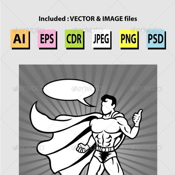 Superhero Comic Style Illustration