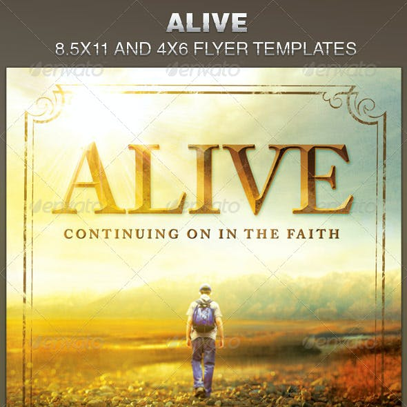 Alive Church Flyer Template