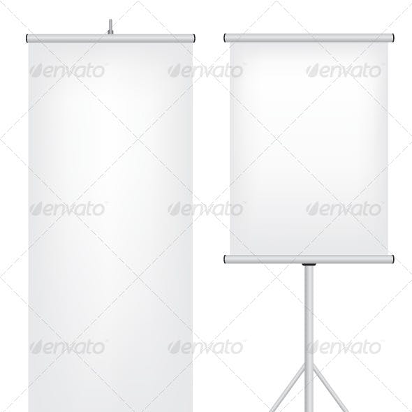 Roll Up Stand Illustration