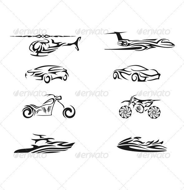 Vehicle Tribal Vector - Miscellaneous Conceptual