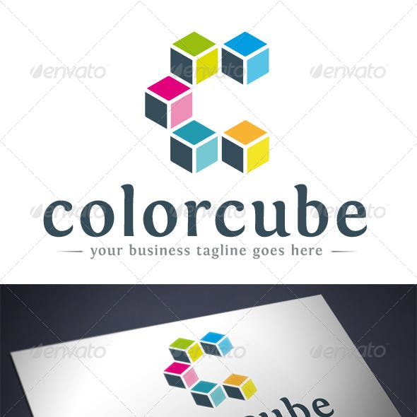 Color Cube Logo Template