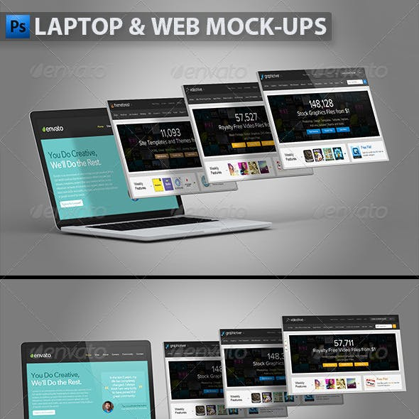 Laptop and Website Mock-ups