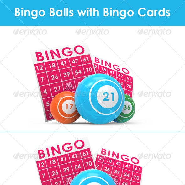 Bingo Balls with Bingo Cards