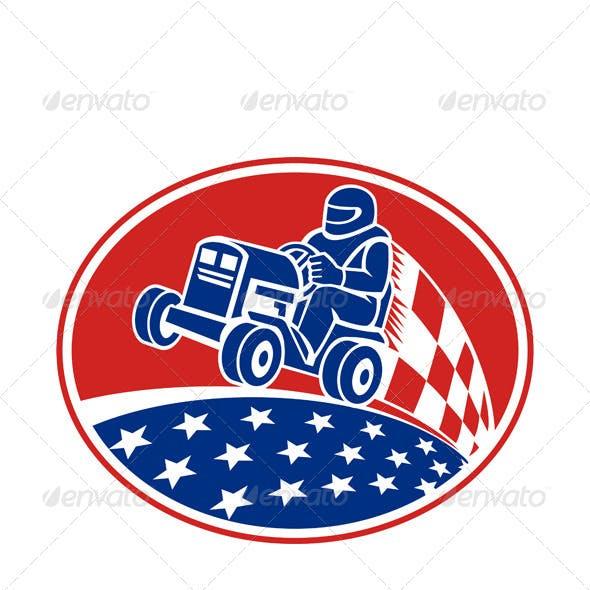 Ride On Lawn Mower Racing Retro
