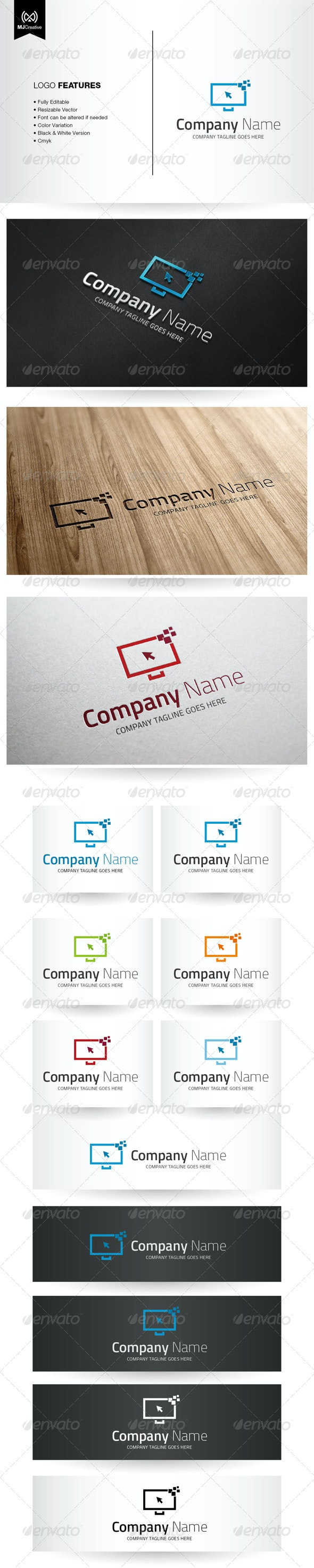Digital And Technology Screen Logo - Objects Logo Templates
