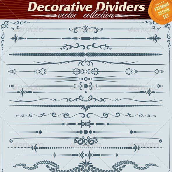 Ornate Decoration Dividers and Rule Lines