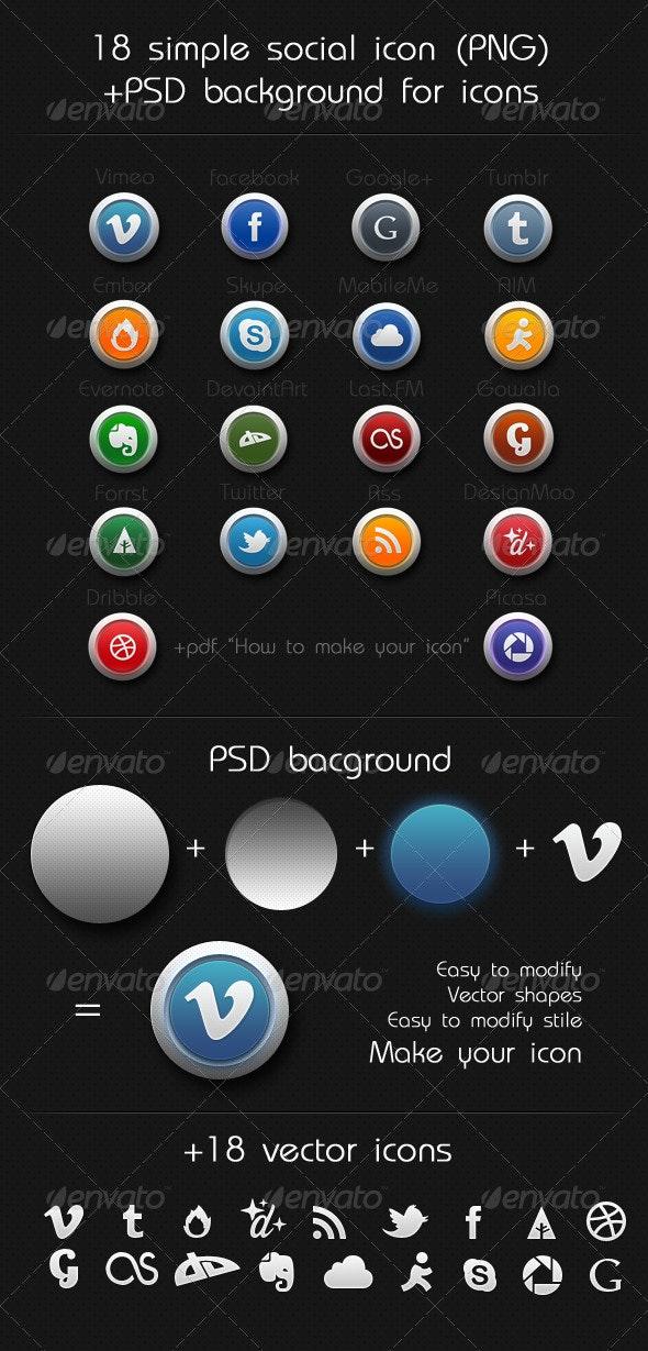 Social Icon set - Web Icons