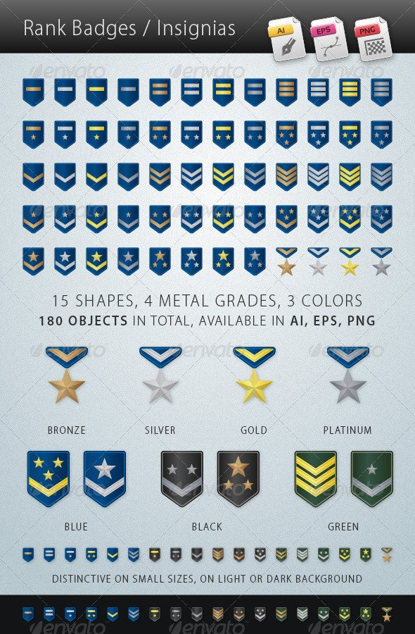 Rank Badges Insignias - Icons
