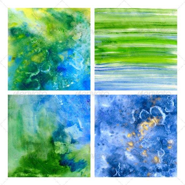 Underwater Beautiful Watercolor Ttextures