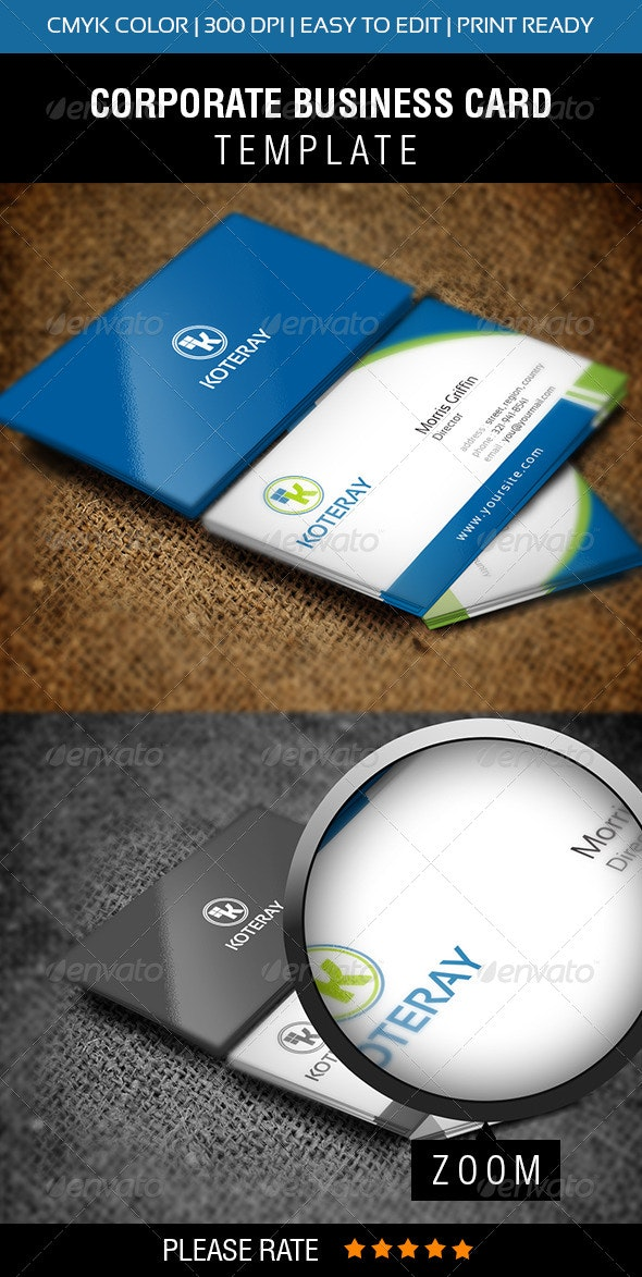 Koteray Business Card  - Print Templates
