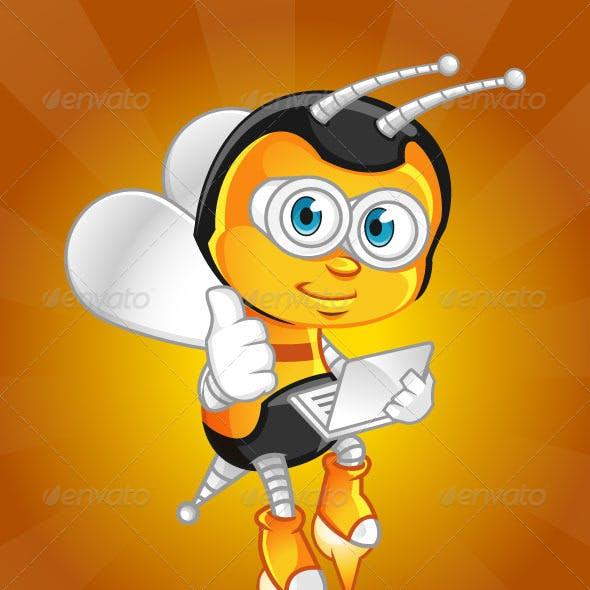 Bee Geek Mascot
