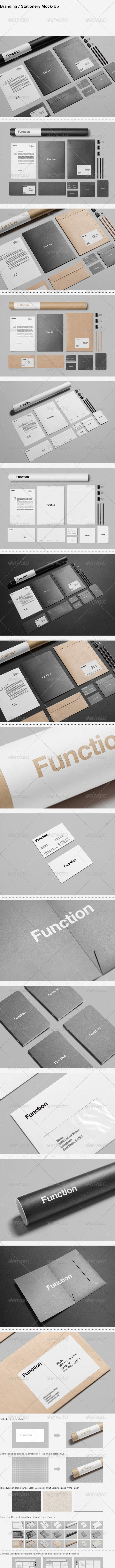 Branding / Stationery Mock-Up - Stationery Print