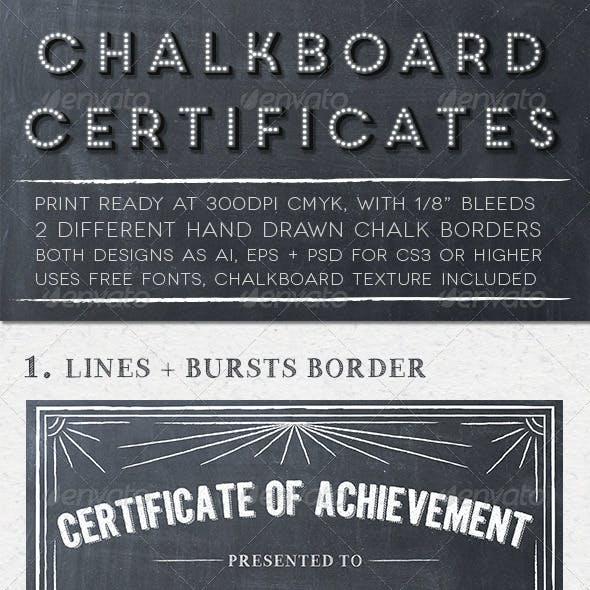 Chalkboard Certificates