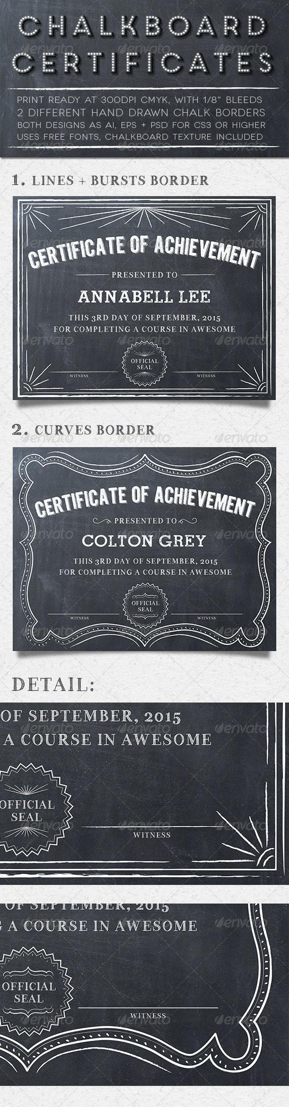 Chalkboard Certificates - Certificates Stationery