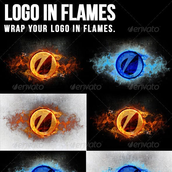 Logo In Flames