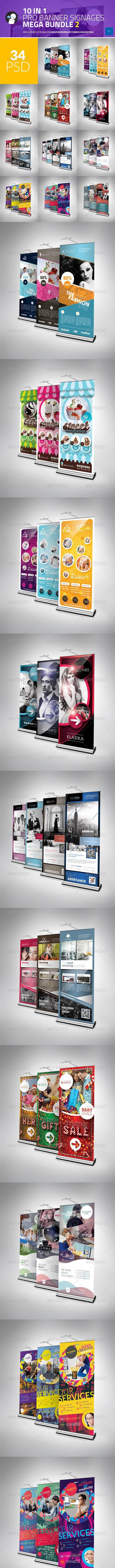 10 in 1 Pro Banner Signages Mega Bundle 2 - Signage Print Templates