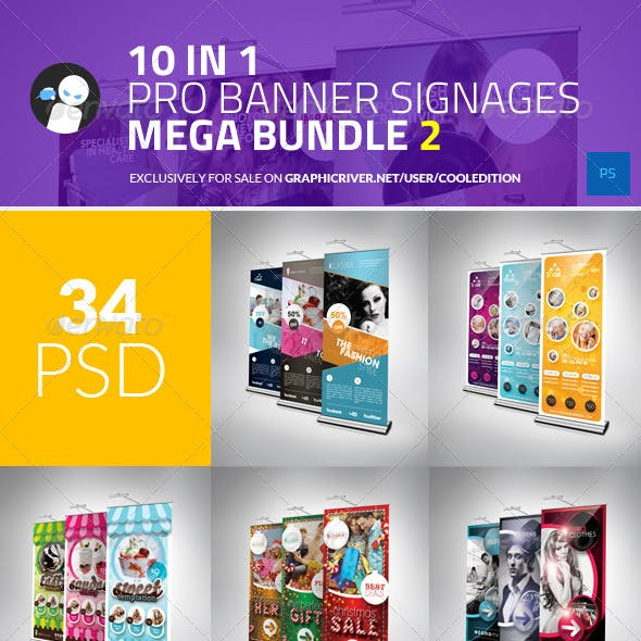 10 in 1 Pro Banner Signages Mega Bundle 2