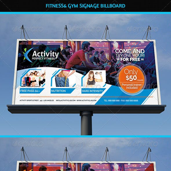 Fitness & Gym Business Signage Billboard