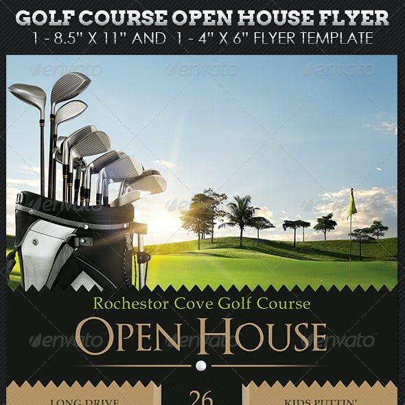 Golf Course Open House Flyer Templates