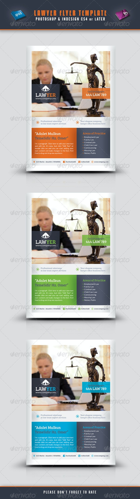 Lawyer Flyer Template - Corporate Flyers