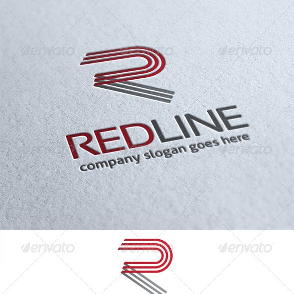 Red Line Letter R Logo