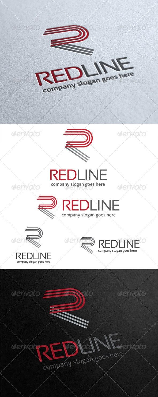 Red Line Letter R Logo - Letters Logo Templates