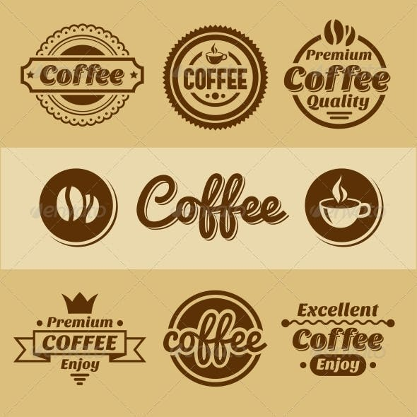 Coffee Labels and Badges.