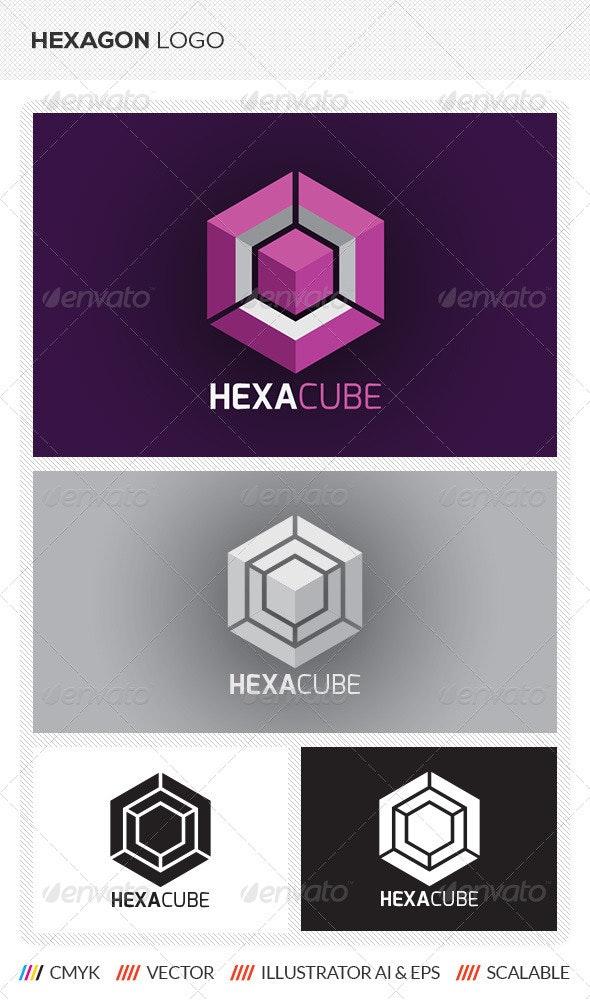 Hexagon Cube Logo Template - Abstract Logo Templates