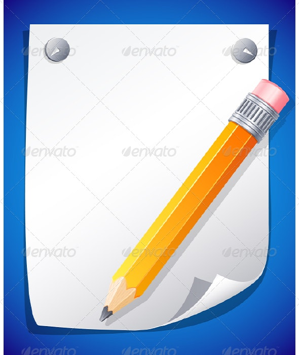 Yellow pencil - Backgrounds Decorative
