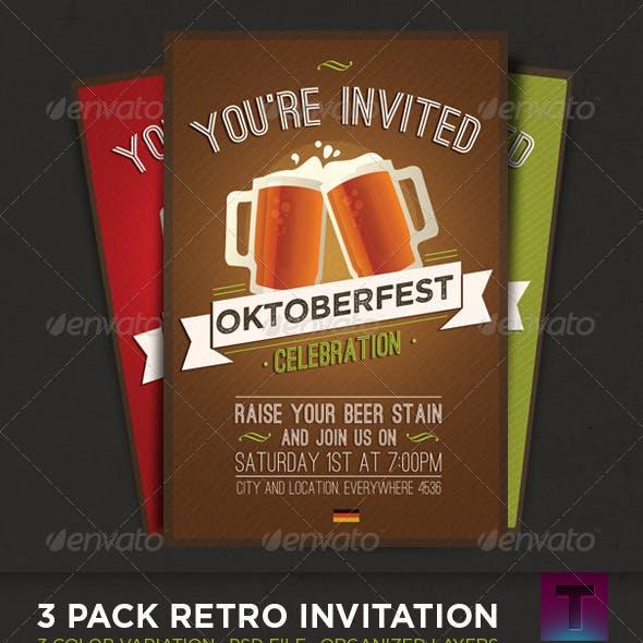 Oktoberfest · 3 Pack Invitation