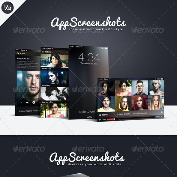 App Screenshot Mockups V2