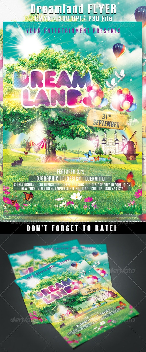 Dreamland Flyer - Events Flyers